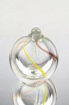 Murano Design Blown Glass Rainbow Spiral Perfume Bottle NP-1220