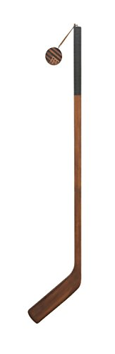 (Deco 79 60627 Wooden Ice Hockey Stick Decor, Brown/Black)