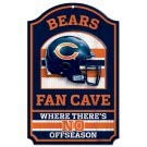 - Pro Football Fan Cave Wood Sign 11x17 (Chicago Bears)