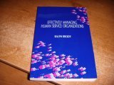 Effectively Managing Human Service Organizations, Brody, Ralph, 0803950292