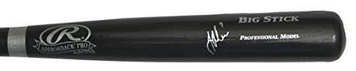 Joe Mauer Minnesota Twins Signed Autographed Rawlings Big Stick Black Bat JSA COA Autographed Rawlings Big Stick Bat