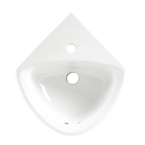 American Standard 0451.001.020 Corner Minette Front Overflow Wall Hung Corner Sink with Center Hole Only, ()