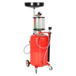 vidaXL Contenedor Drenaje de Aceite Usado 70 L Acero Rojo ...
