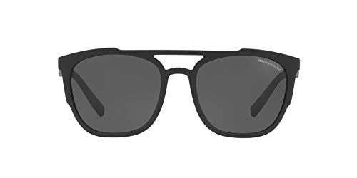 Armani Exchange Men's 0ax4076s Iridium Rectangular Sunglasses matte black 56.0 mm