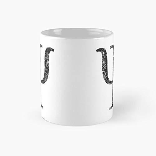 gocontigo - Psi Greek Letter Symbol Grunge Style Mug 11 Oz White - Symbols Letters Greek