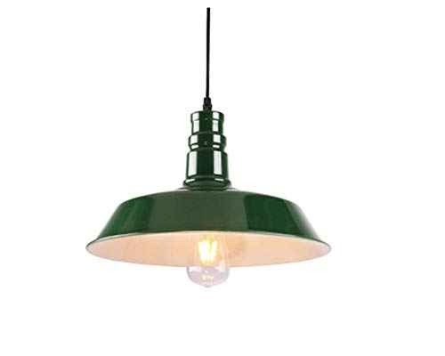 Attic Chandeliers Chandelier Single Head Iron Art Chandeliers Black/Green/Blue/Brown/Red/White/Yellow Seven Colors Optional Large/Small Size Optional Gfgm (Color : - Color Art Sconces Red