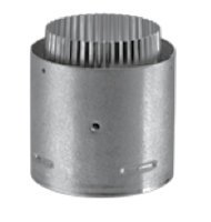 DuraVent 4'' Pellet to Flex adapter-Galvanized Outer