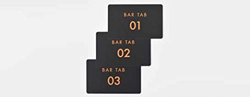 Pack of 25 Bar Tab Cards Numbered 01-25 Cards for customers Setting up bar tabs