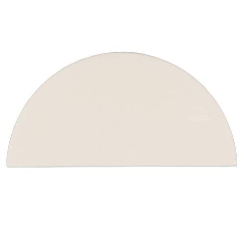 WRKAMA Pizza Stone for Big Green Egg KAMADO JOE 15inch Heat Deflector Plate Half Moon Design Stone for Smoking Bake Pizza Grill tools (Kamado Deflector Heat)