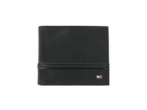 Tommy Hilfiger Men's Black Genuine Leather | ID Holder | Bi-Fold Wallet