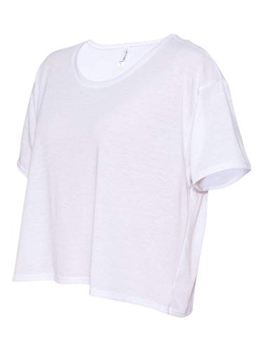 Bella + Canvas Womens 3.7 oz. Boxy T-Shirt (B8881) -WHITE -M