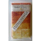 Stonehenge Gradations Brights Sunglow Stone Strips 40 2.5-inch Strips Jelly Roll (Yellow Fabric Strips)