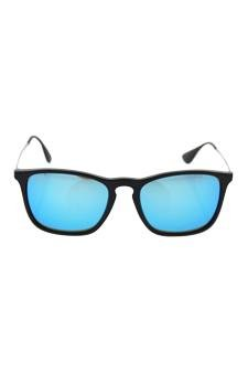 05e27b62a3 Amazon.com   Ray Ban Rb 4187 601 55 Chris - Black Gunmetal blue Sunglasses  For Unisex   Beauty