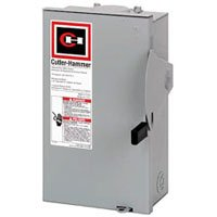 Eaton DG221URB 2 Wire 2 Pole Non-Fusible B Series General-Duty Safety Switch 240 Volt AC 30 Amp NEMA 3R by Eaton