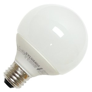 Sylvania 28977 - CF14EL/G25/827/BL Globe Screw Base Compact Fluorescent Light Bulb