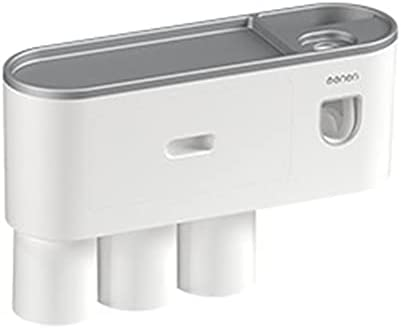 Leepsom Magnetic Adsorption Inverted Toothbrush Holder Double Automatic Toothpaste Squeezer Dispenser Storage Rack Bathroom Tools