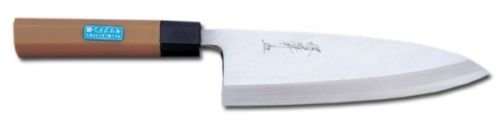 Sakai Takayuki Japanese Knife Inox Pc 04637 Deba Knife 180mm, Handle Color Brown by Sakai Takayuki
