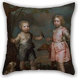 Artistdecor Throw Pillow Covers Of Oil Painting Gilbert Soest - Lord John Hay And Charles, Master Of Yester (later 3rd Marquis Of Tweeddale) 20 X 20 Inches / 50 By 50 Cm,best Fit For Couples,bar,ho