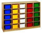 Childcraft Mobile Cubby44; 25-Tray Capacity