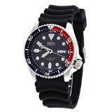 Seiko Divers Automatic Black/Blue Dial Black Rubber Mens Watch SKX009J1