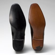 Audley: Black Calf, Dark Brown Antique Calf