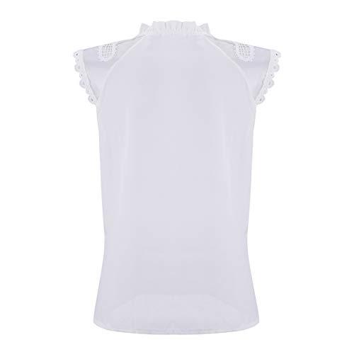 Courtes White Manches en Mousseline Manches Soie Courtes T de Mousseline de Shirts en Soie RqU8BRwap