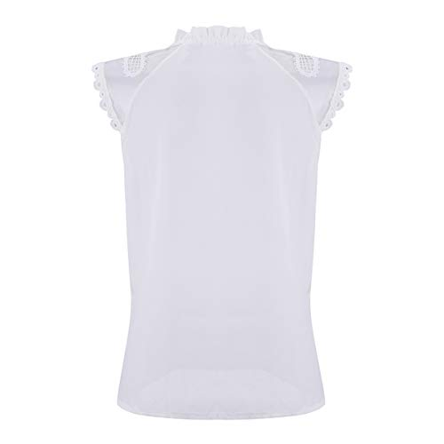 T Manches Manches White Courtes Mousseline Mousseline Soie Courtes en de de en Soie Shirts wCBwqgxF