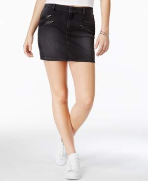 GUESS Women's Biker Mini Skirt in Black, Washed, 28 R (Guess Mini Skirt)