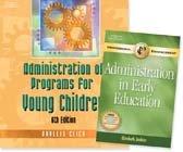 Administration of Programs for Young Children, w/ Dvlp, Admin. Pets PKG
