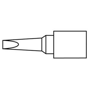 Hakko Solder Tip, Chisel, 1 x 6.5mm, Micro, (T30 Tip)