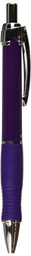 Zebra GR8 Gel Retractable Roller Ball Pen, Violet Barrel/Ink, Med Pt, 0.70 mm, Box of 12 (42680)
