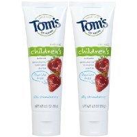 Tom's of Maine Fluoride Free Children's Toothpaste-Silly Strawberry-4.2 oz, 2 pk