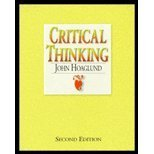 Critical Thinking, Hoaglund, John, 0916475077