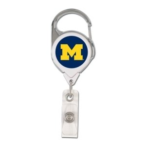 WinCraft NCAA Michigan Wolverines Retractable Premium Badge Holder, Team Color, One Size