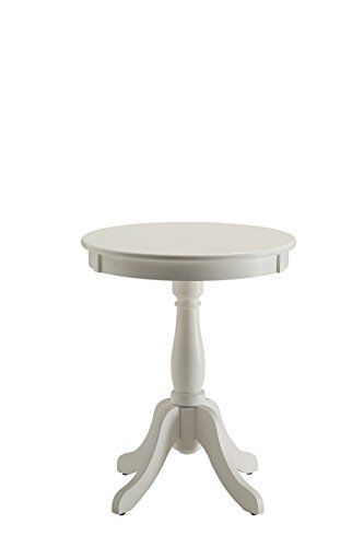 (Acme Furniture Acme 82804 Alger Side Table, White, One Size)