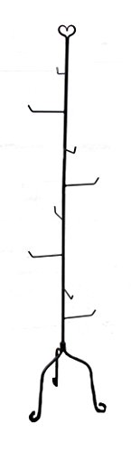 Stand Iron Wrought (Wrought Iron Basket Stand 5 Ft Tall! Sturdy Hand Made)
