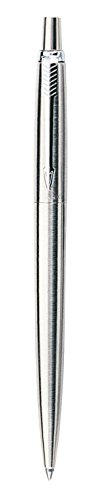 Parker Jotter Stainless Steel Ballpoint Pen, Medium Point, Black Ink ()