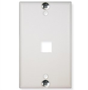 - ICC-WALL PLATE- PHONE- FLUSH- 1-PORT- WHITE