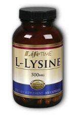 Lifetime L-lysine 500 Mg Nutritional Supplements, 100 Count