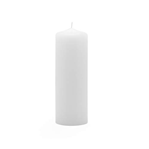 Royal Imports Pillar Candle Wedding, Birthday, Holiday & Home Decoration, 2x6, White Wax, Set of 12