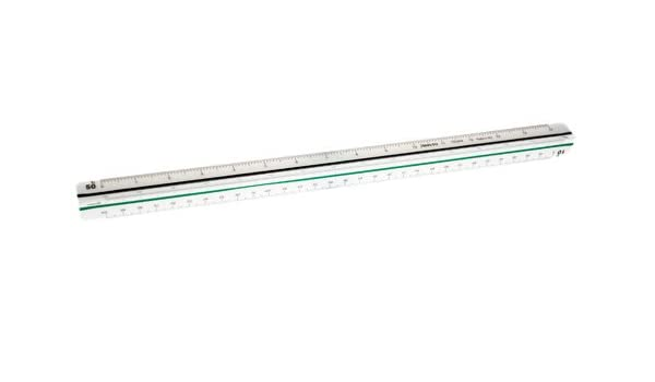 Aristo Engineering Triangular Three-Edged Scale 30 cm White Plastic