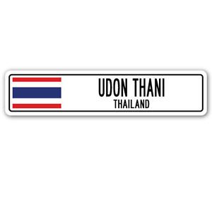 UDON THANI, THAILAND Street Sign Sticker Decal Wall Window Door Thai flag city country road wall 22 x 6