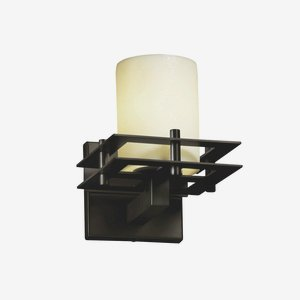 Justice Design Group CNDL-8171-15-CREM-CROM Candlearia Collection Metropolis 1-Light Wall Sconce with 2 Flat Bars