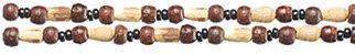 Croakies Woodland Cords Dark Round Natural w/Beads Tite End 2-Pack by Croakies, USA