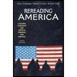 Rereading America : Cultural Contexts for Critical Thinking and Writing, Colombo, Gary, 0312405537