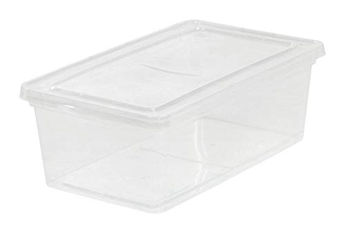 Iris USA 6587224 Stackable Clear Storage Box44; Pack of 18-4.87 x 14.25 x 8.2 in.