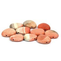 Celestobarite Drilled Tumble Stone (Roach Stone)