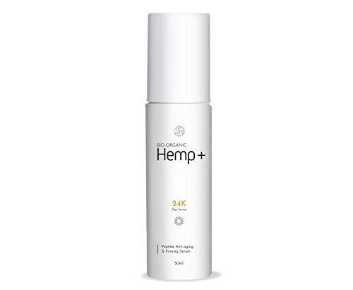 TerraBella 24K Anti-Aging Hemp Serum – Day Moisturizer Serum for Wrinkles and Dark Circles – Organic and All-Natural Ingredients – High Hemp Extract – Rejuvenates Skin – For all Types -