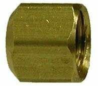 - Midland 10-077 Brass SAE 45 Degree Flared Cap, 3/8