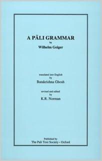 Geiger Pali Grammar cover art